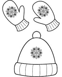 cute winter coloring pages winter season hat and mittens in winter clothing coloring page