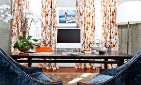 Orange Curtains For Living Room Autumn Colors Prints And Patterns That Look Great On Curtains