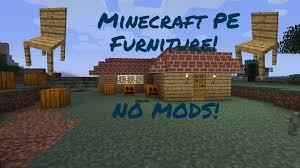 Minecraft Kitchen Furniture Minecraft Pe Furniture No Mods Youtube