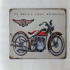 motorcycle home decor vintage metal tin sign plaque poster bar wall pub home decor club