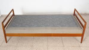 swedish teak daybed with spring mattress upholstered in wool