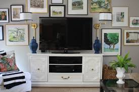 Living Room Tv by Using A Dresser As Our Tv Console Emily A Clark
