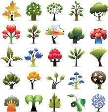 multi color tree free vector 24 790 free vector for