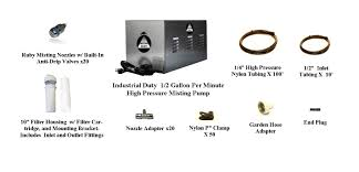 Diy Portable Mister by Diy 0 5 Gpm High Pressure Mist Cooling Dust Control Fog Kit