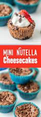 mini nutella cheesecakes my baking addiction