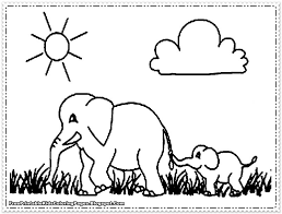 coloring pages animals elephant coloring page for kids images