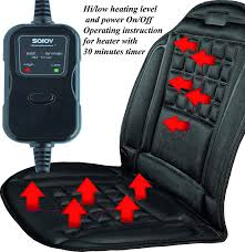amazon com sojoy universal 12v heated car seat cushion warmer