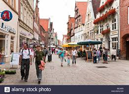 in shopping luneburg germany stock photo royalty
