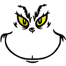 head clipart grinch pencil and in color head clipart grinch