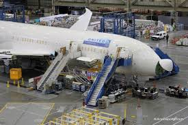 where is united airline u0027s first boeing 787 dreamliner
