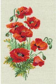 poppies flowers riolis poppies flowers cross stitch kit 123stitch