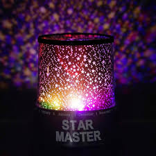 chagne gift set starry galaxy sky projector cosmos color changing led