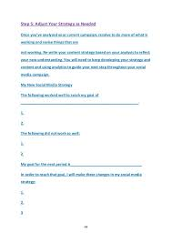 social media strategy 12 month sample plan