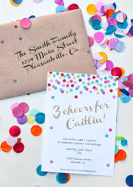 Backyard Birthday Party Invitations Cake Creative Co Confetti Birthday Party Invites U0026 Decorations