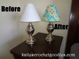 Lampshades For Chandeliers Diy Recovering Lamp Shades Katie U0027s Crochet Goodies