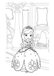 princess sofia coloring pages castle coloringstar