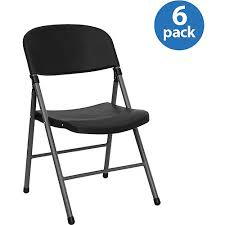 black plastic folding chair set of 6 walmart com