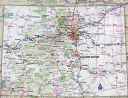 Map Of The United States With States by Large Detailed Roads And Highways Map Of Colorado State With All