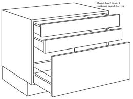 meuble cuisine tiroir meuble bas 2 tiroirs et 1 coulissant for tiroir coulissant meuble