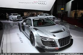 world premiere of the audi r8 lms ultra in geneva quattroworld