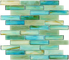large glass tile backsplash kitchen botanical glass large brick 1