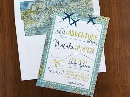 travel themed baby shower adventure maps baby shower invitation airplanes travel