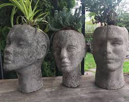 Large Head Planters Handmade Planter Etsy
