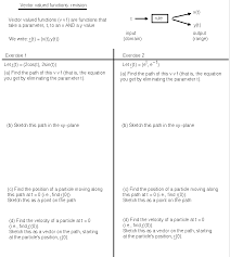 vector geometry and vector calculus math100 revision exercises