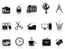 icone de bureau jeu d icônes de bureau noir outils image vectorielle huhulin