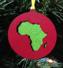 decoration africa ornament with felt
