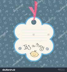 baby boy arrival card shower card stock vector 553266724