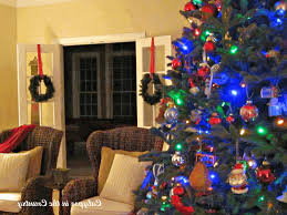 country christmas decorating ideas pictures smooth gray sofa light