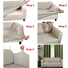 How To Make Sofa Covers Easy Fit Sofa Cover Or Stretch Dining Chair Cover By Home
