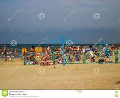 the black sea beach in the area of recreation the russian city of