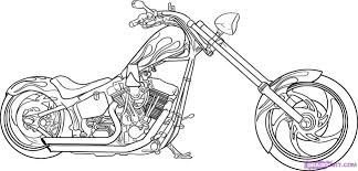 coloring page drawing motorcycles drawing of motorcycles