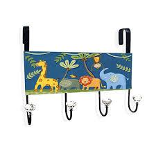 Safari Bathroom Ideas Jungle Animals Over The Door Hanger Bath Mat And Squirter Set