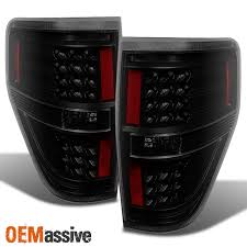 2012 f150 tail lights 2009 2014 ford f150 f 150 black smoked led tail lights left right
