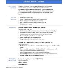 Sample Resume For Custodian by Student Janitor Resume Samples Janitor Job Resume Template