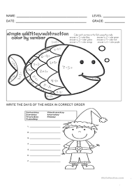 10 free esl weekdays worksheets