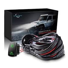 green zombie jeep amazon com mictuning led light bar wiring harness 40amp relay