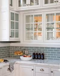 white kitchen cabinets with blue subway tile kitchen and baths backsplash for white cabinets kitchen