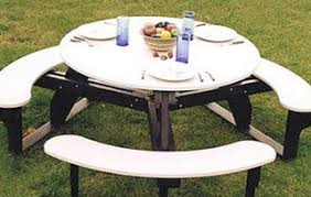 round plastic picnic table recycled plastic picnic tables outdoor furniture
