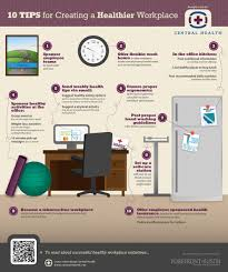 10 tips for creating a healthier workplace infographic l health