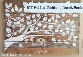 fall wedding guest book how to make a pallet wedding guest book