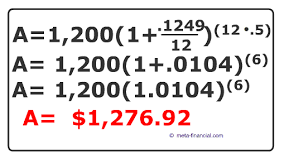 calculate compound interest formula with examples and practice
