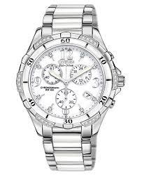 ceramic bracelet watches images Citizen women 39 s chronograph eco drive diamond accent stainless tif
