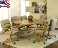 kitchen table and chairs with casters kitchen dining sets with caster chairs pastel furniture coast 5