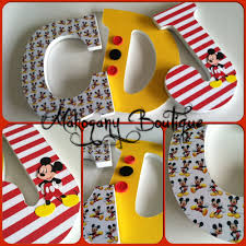 wooden letters home decor custom decorated wooden letters mickey mouse theme