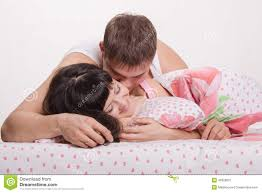 Kiss In Bed Lovers Embrace And Kiss In Bed Stock Photo Image 40329807