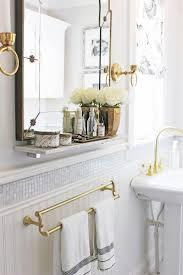 Antique Bathroom Ideas Vintage Brass Floor Mirror Vanity Decoration